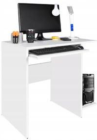 ISO Stôl na PC Modern, 80x50x75cm, biela, 8701