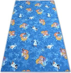 3kraft Dětský koberec FROZEN modrý