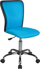 SIGNAL Q-099 detská stolička na kolieskach modrá