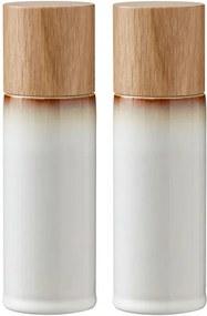 Sada 2 krémových kameninových mlynčekov na soľ a korenie Bitz Basics Cream