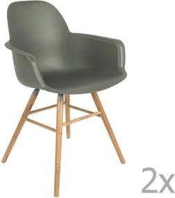 Sada 2 zelených stoličiek s opierkami Zuiver Albert Kuip