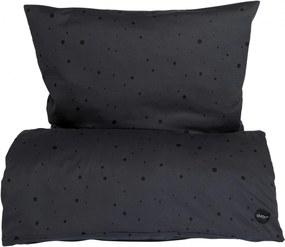 OYOY Obliečky na jednolôžko Dot Asphalt/black 140x200 cm