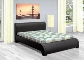 Luxusná posteľ 180x200 cm Seina s úložným priestorom Barva: eko kůže bílá, typ matrace: bez matrace