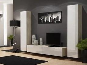 CAMA MEBLE Obývacia stena VIGO 4 Farba: dub sonoma/biela