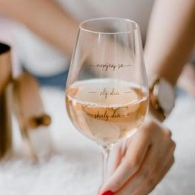 Bella Rose Pohár na víno Nepýtaj sa! SK