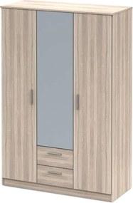 Trojdverová skriňa so zrkadlom, dub sonoma NOKO-SINGA 82