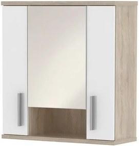 Sconto Zrkadlová skrinka LINDA LI01 dub sonoma/biela