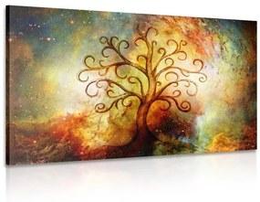 Obraz strom života s abstrakciou vesmíru