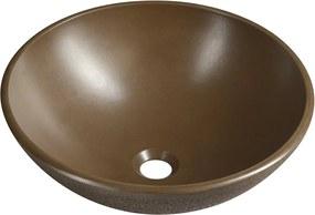 Formigo FG004 betónové umývadlo, priemer 41 cm, tmavo hnedé