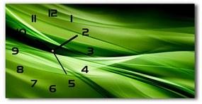 Sklenené hodiny na stenu Zelenej vlny pozadie pl_zsp_60x30_f_87078667