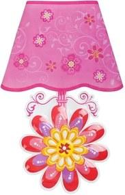 BAYO Nezaradené Svietiaca samolepiaca LED lampička Bayo kvetinka Ružová  