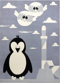 Koberec BCF FLASH Penguin 3997 - tučniak sivý - 120x160 cm