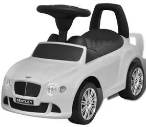 vidaXL Biele šliapacie autíčko Bentley