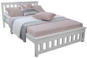MD Manželská posteľ Keyla - biela Rozmer lôžka: 180x200
