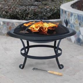 Terasový krb + ohnisko+ gril Avenberg CALIFORNIA