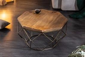 Dizajnový konferenčný stolík Acantha 70 cm mango
