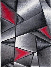 Kusový koberec Geodet červený, Velikosti 200x290cm
