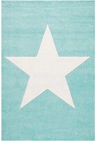 MAXMAX Dětský koberec STAR  mátovo-bílý 80x150 cm 80x150 cm 120x180 cm 160x230 cm