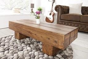 Konferenčný stolík Makassar z masívneho dreva 100cm