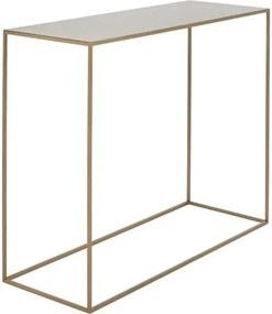 Konzolový kovový stôl v zlatej farbe Custom Form Tensio, 100 x 35 cm