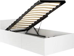 ArtAko Jednolôžková posteľ Clips 90x200 cm s roštom Farba: Biela
