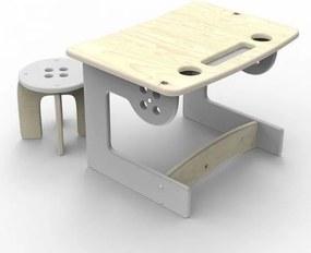 Drevený stôl so stoličkou Planeco GUZIK šedý