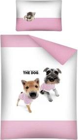 Obliečky do postieľky The Dog Námorníci ružová 100/135 cm