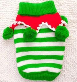 (veľkosť M: 40/28 cm) Vianočný pletený sveter pre psov VIANOCE