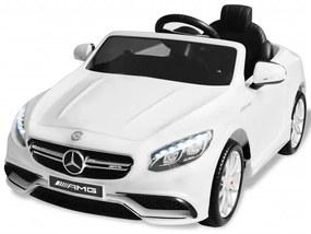 Elektrické autíčko Mercedes Benz AMG S63, biele, 6 V