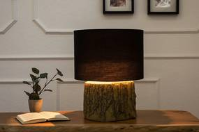 Bighome - Stolná lampa TARO, 40 cm - čierna