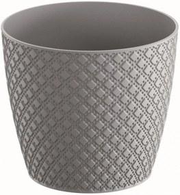 Prosperplast ORIENT Kvetináč 18,9 cm, šedý kameň DOR190