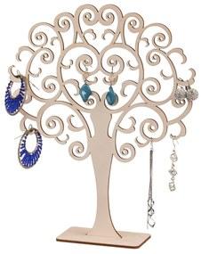 ČistéDrevo Drevený okrúhly stromček na šperky