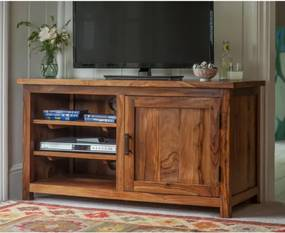 TV stolík Rami 120x60x45 indický masív palisander Svetlomedová