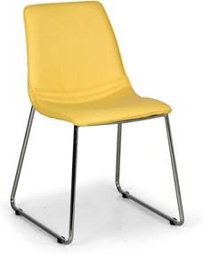 Stolička SPRING, žltá, 4 ks