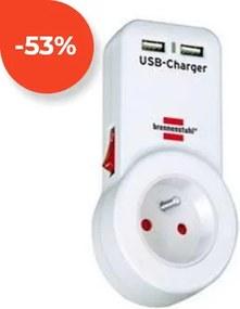 Zásuvka s vypínačom a USB výstupmi Brennenstuhl 1508151 230V 16A
