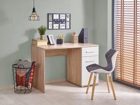 Písací stôl LIMA B-1 dub sonoma / biela Halmar