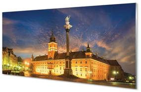 Nástenný panel Warsaw Old Town sunset 120x60cm