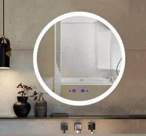 Bezdoteku Nemlžící kúpeľňové zrkadlo guľaté s LED osvetlením 60x60 cm KZ3