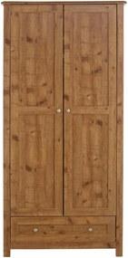 Dvojdverová šatníková skriňa v dekore dubového dreva Støraa Axel