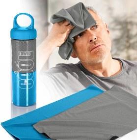 Weltbild Chladící ručníky, 2 kusy, modrá a šedá