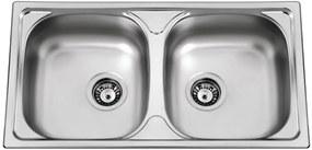 Sinks nerezový drez Okio 780 DUO V leštený