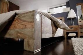 Masiv24 - GREY WOOD Posteľ 160x200 cm - vyrezávané čelo, palisander