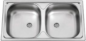 Sinks nerezový drez Okio 780 DUO M matný