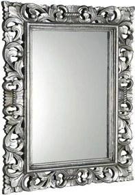 SAPHO - SCULE zrkadlo v ráme, 70x100cm, strieborná Antique (IN156)