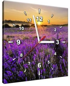 Obraz s hodinami Levanduľové pole 30x30cm ZP1154A_1AI