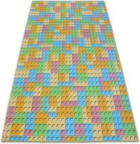 3kraft Detský kusový koberec LEGO zelený