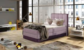 Moderná box spring posteľ Adria 90x200, fialová Roh: Orientace rohu Levý roh