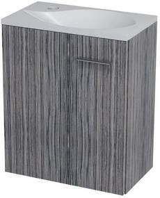 SAPHO Latus II umývadlová skrinka 42x50x25cm, zebráno tmavé 55581