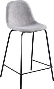 TEMPO KONDELA Mariola New barová stolička svetlosivá / čierna