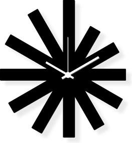Dizajnové nástenné hodiny: Black Star - Čierne plexi  30 x 40 cm | atelierDSGN